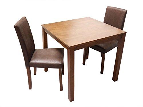 SAM-Massive-3tlg-Tischgruppe-Essgruppe-Tom-nussbaumfarbig-gelt-im-Antik-Look-aus-Massivholz-Sitzgruppe-bestehend-aus-1-x-Tisch-Tom-2-x-Esszimmerstuhl-Billi-0
