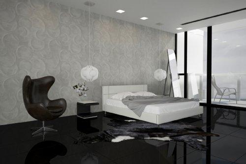 sam polsterbett bett teneriffa in wei 180 x 200 cm. Black Bedroom Furniture Sets. Home Design Ideas