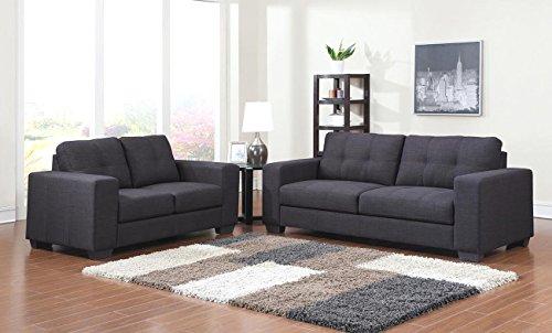 SAM® Sofa Garnitur Aviano 2tlg. Polstergarnitur in grau aus Stoff, abgestepptes Design, pflegeleichte Oberfläche, sehr hoher Sitzkomfort Sofalandschaft bestehend aus 1 x 2-Sitzer + 1 x 3-Sitzer Lieferung montiert per Spedition