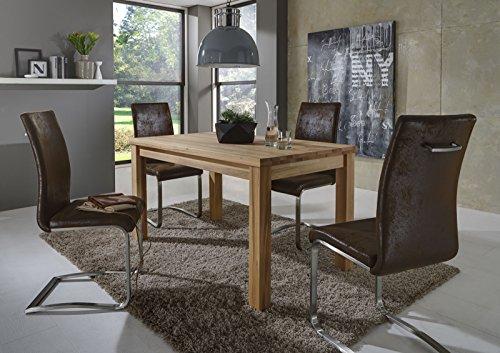 SAM-Stilvolle-Esszimmertischgruppe-5tlg-Emil-aus-Kernbuche-gelt-besteht-aus-1-x-Tisch-Emil-gelt-120-x-80-x-75-cm-4-x-Freischwinger-Stuhl-Lillian-in-Wildlederoptik-natrliche-Maserung-massiv-pflegeleich-0