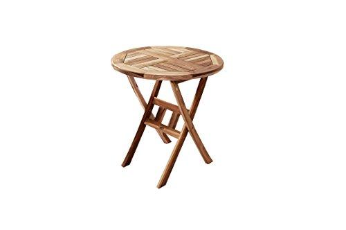 SAM-Teak-Holz-Balkontisch-Gartentisch-Holztisch-Romario-60-cm-Durchmesser-zusammenklappbarer-Tisch-leicht-zu-verstauen-0
