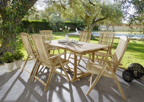 SAM-Teak-Holz-Garten-Gruppe-Gartenmbel-7tlg-Balkon-Gruppe-bestehend-aus-1-x-Tisch-6-x-Stuhl-zusammenklappbare-Sthle-leicht-zu-verstauen-53262606-0