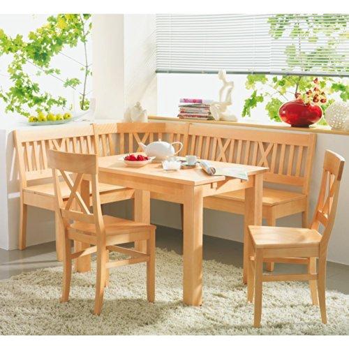SET Bergheim Buche massiv Tisch Eckbank Stühle Pharao24