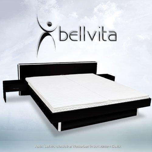 SONDERAKTION-bellvita-Wasserbett-inkl-Lieferung-und-Aufbau-durch-Fachpersonal-inkl-Bettrahmen-Kopfteil-und-2-Nachttischen-schwarz-140-cm-x-200-cm-0