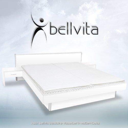 SONDERAKTION-bellvita-Wasserbett-inkl-Lieferung-und-Aufbau-durch-Fachpersonal-inkl-Bettrahmen-Kopfteil-und-2-Nachttischen-wei-200-cm-x-220-cm-0