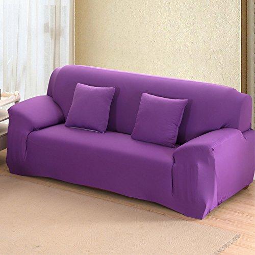 SSDLRSF Einfarbig Sofa Abdeckung Große Elastizität Stretch Couch Abdeckung Sofa Sofa Ecke Sofa Handtuch Möbel Abdeckung 1/2/3/4 Sitzer (145-185 cm)