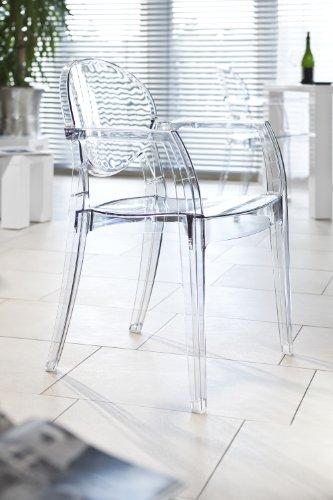 SalesFever Design Stuhl mit Armlehnen Igloo transparent