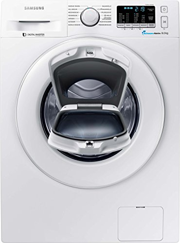 Samsung Waschmaschine FL/A+++/116 kWh/Jahr/1400 UpM/8 kg/weiß/Add Wash/Smart Check/Digital Inverter Motor