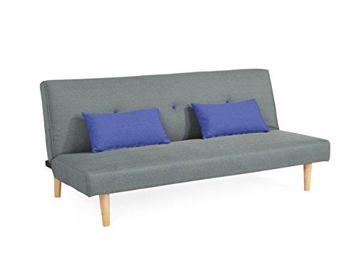 Schlafsofa Couch Sofabett mit 2 Kissen 3 Sitzer Sofa Klappsofa