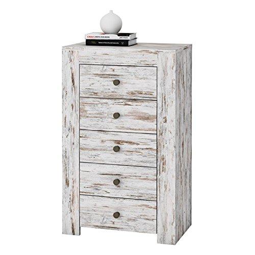 Schubladenkommode-Kommode-Shabby-Chic-Sideboard-LIVIO-im-Used-Look-Anrichte-Landhaus-Stil-0