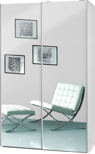 schwebetrenschrank soft plus smart typ 42 120 x 194 x 61cm wei2 x spiegel 0 m bel24. Black Bedroom Furniture Sets. Home Design Ideas