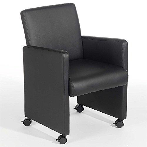 Sessel-Hocker-Relaxsessel-Polstersessel-ANTONIA-auf-Rollen-schwarz-0