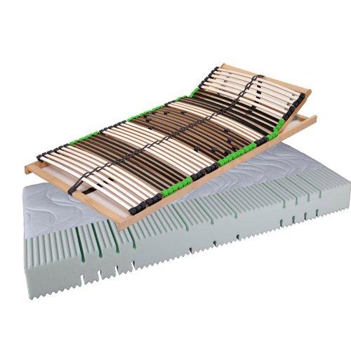 """""""Set Angebot Balance"""" Matratze Komfortschaummatratze AIR Balance H2 und 7 Zonen Lattenrost DaMi Balance Kopf (160 x 200 cm)"""