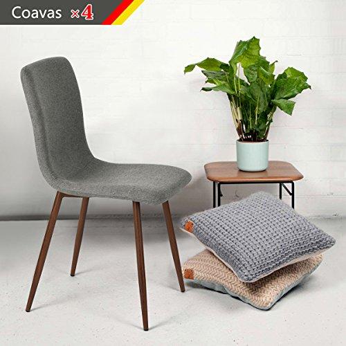 Set-von-4-Esszimmersthlen-Coavas-Stoff-Kissen-Kchentisch-Sthle-mit-stabilen-Metall-Beine-fr-Esszimmer-0
