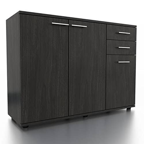sideboard kommode anrichte mehrzweckschrank standschrank 3 tren anthrazit matt 0 m bel24. Black Bedroom Furniture Sets. Home Design Ideas