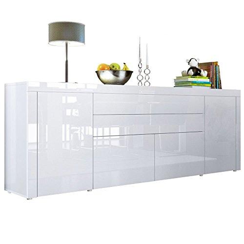 Sideboard Kommode La Paz V2 in Weiß Hochglanz / Weiß Hochglanz / Weiß Hochglanz
