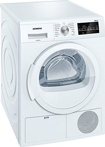Siemens WT46G400 iQ500 Kondensationstrockner/B/8 kg/Großes Display mit Endezeitvorwahl/autoDry-Funktion/softDry-Trommelsystem/weiß
