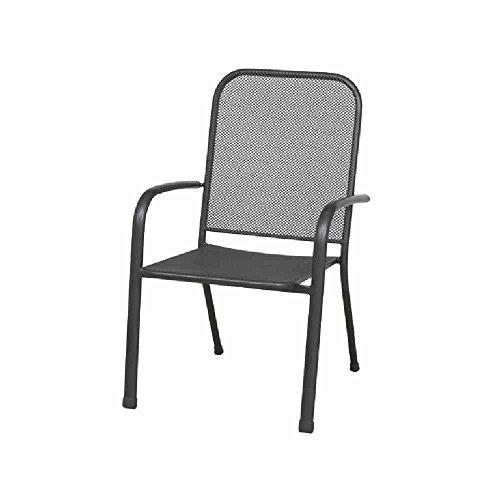 siena garden 680094 stapelsessel larena 62 x 59 x 91 cm stahlgestell und streckmetalleisengrau. Black Bedroom Furniture Sets. Home Design Ideas