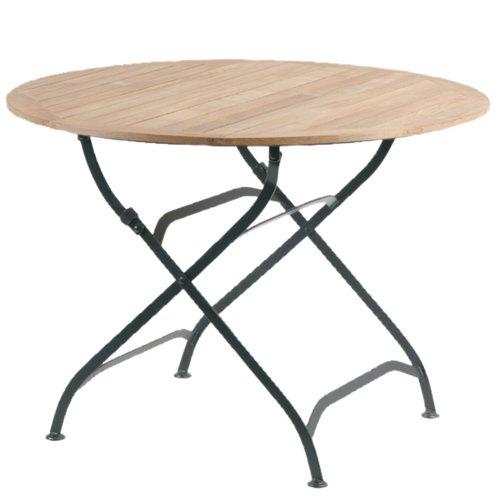 Siena-Garden-GFA-COC-001447-Klapptisch-Peru-II-Flachstahlgestell-schwarz-verzinkt-Flchenfarbe-teak-Durchmesser-90-x-Hhe-75-cm-0