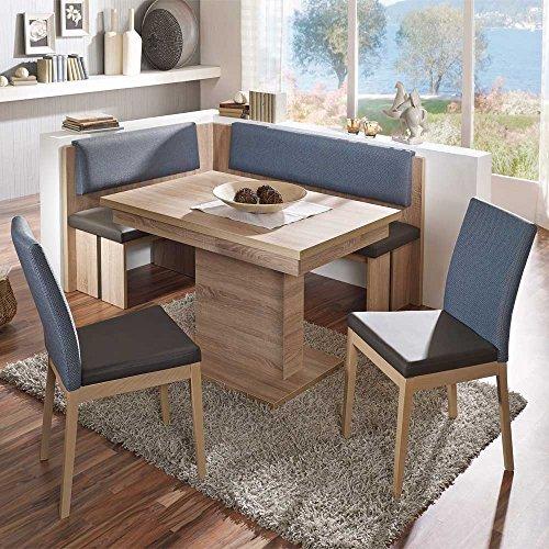 Sitzecke mit ausziehbarer Eckbank modern (4-teilig) Pharao24
