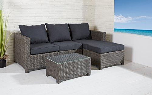 Sitzgruppe-Comfortlounge-4-tlg-grau-Mix-Gartengarnitur-Lounge-Mbel-Sofalounge-0