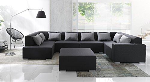 Sofa Couchgarnitur Couch Sofagarnitur CUBIC 6 Teile Modulsystem inkl. Kissen Polstergarnitur Polsterecke Wohnlandschaft