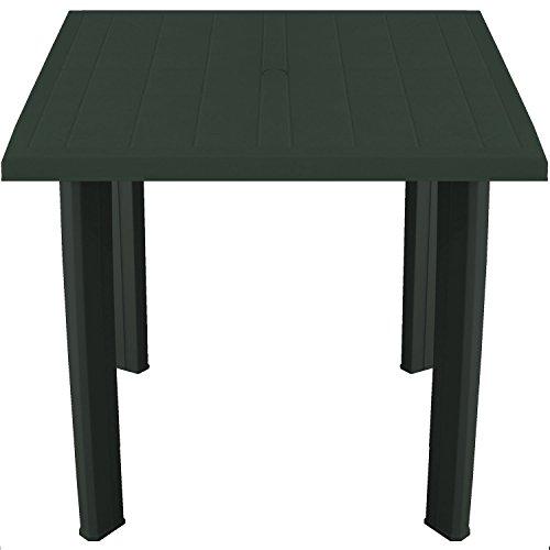 Solider Gartentisch 80x75cm Kunststofftisch Campingtisch Beistelltisch Kunststoff Gartenmöbel Campingmöbel - Dunkelgrün