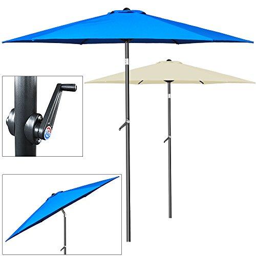 Sonnenschirm Ø 200cm mit Kurbel und Neigevorrichtung - Kurbelschirm Gartenschirm