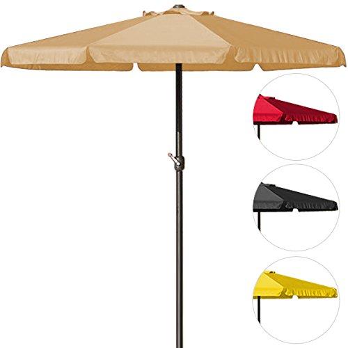 Sonnenschirm 350cm - Kurbelschirm Ampelschirm Marktschirm Gartenschirm