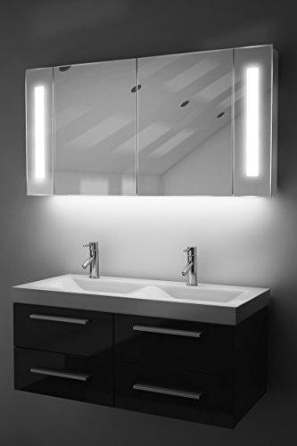 Spiegelschrank Bad Ambient Raumbeleuchtung, Sensor & Rasiersteckdose k156W