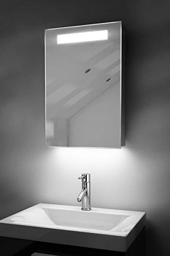 Spiegelschrank Bad Ambient Raumbeleuchtung, Sensor & Rasiersteckdose k262W