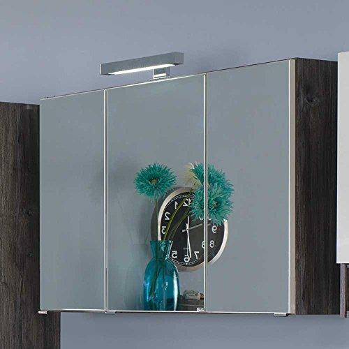 Spiegelschrank mit 3D Effekt LED Beleuchtung Breite 80 cm Pharao24