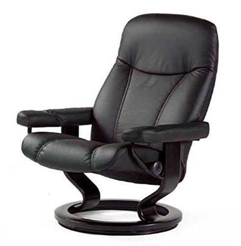 Stressless-Bequemsessel-S-schwarz-Echtleder-Sessel-Sitz-Armlehnen-Hochlehne-Sitzmbel-0