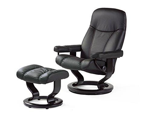 Stressless-Bequemsessel-inkl-Hocker-schwarz-Echtleder-Sessel-Sitz-Armlehnen-Hochlehne-Sitzmbel-0
