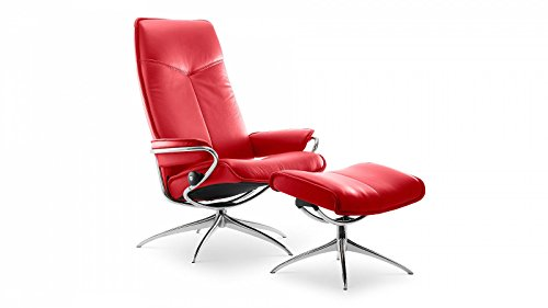 Stressless-City-Sessel-mit-Hocker-M-High-back-Rot-gnstig-0