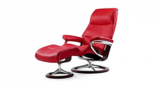 Stressless-View-Sessel-mit-Hocker-M-Rot-gnstig-0