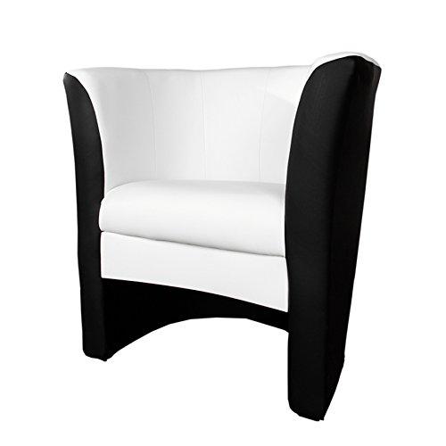 Stylischer-Cocktailsessel-MOTION-weiss-mit-schwarz-Sessel-0
