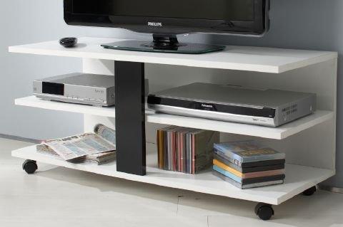TV Bank 'SLIDE' rollbar in weiß / schwarz