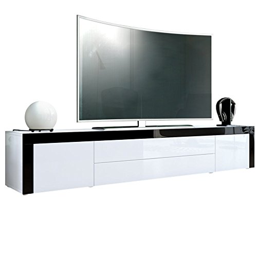 tv board lowboard la paz in wei hochglanz wei. Black Bedroom Furniture Sets. Home Design Ideas