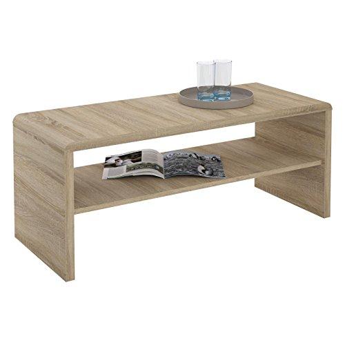TV Lowboard / Couchtisch LENNI, 100x40x40 cm in Sonoma Eiche mit Ablagefach