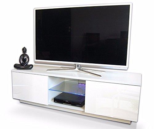 TV-Lowboard-TV-Schrank-Mbel-Schrank-mit-Hochglanz-120cm-mit-RBG-LED-Beleuchtung-korpus-matt-wei-wei-hochglanz-0