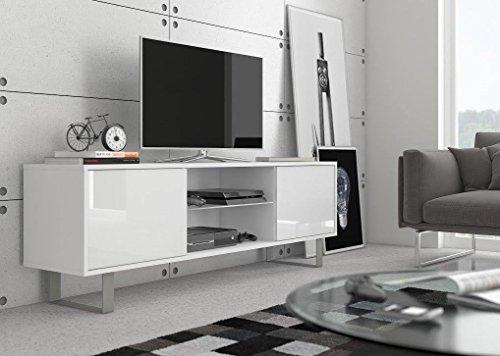 TV Schrank Emma (Weiß Matt / Weiß Hochglanz)