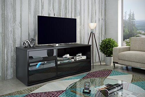 tv schrank lowboard sideboard boom schwarz matt gl nzend schwarz m bel24. Black Bedroom Furniture Sets. Home Design Ideas