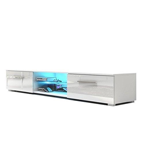 TV Schrank Nessy (weiß matt / glänzend weiße)