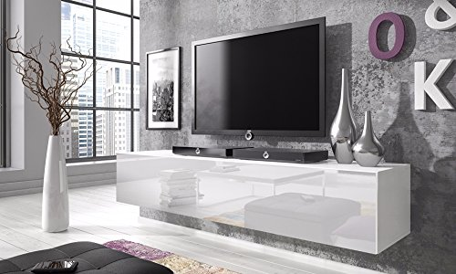 TV Schrank Simple (160 cm, weiß matt / glänzend weiße)