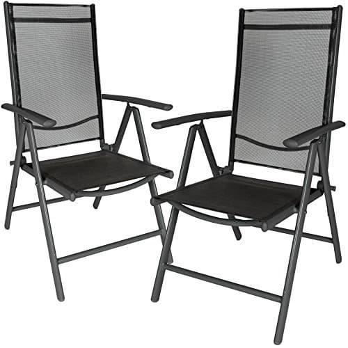 TecTake-2er-Set-Aluminium-Klappstuhl-Gartenstuhl-verstellbar-mit-Armlehnen-anthrazitschwarz-0