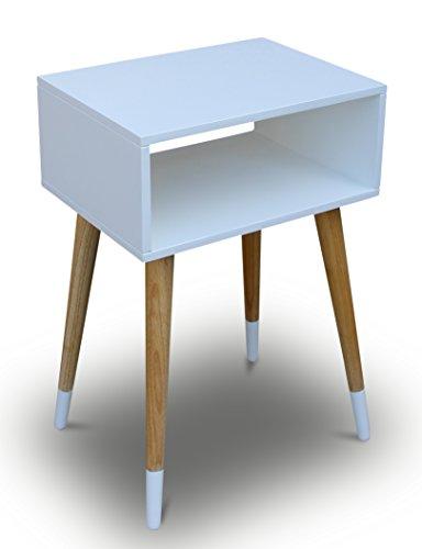 Telefontisch holz wei 40 x 30 x 60 cm nachtschrank for Beistelltisch skandinavisch