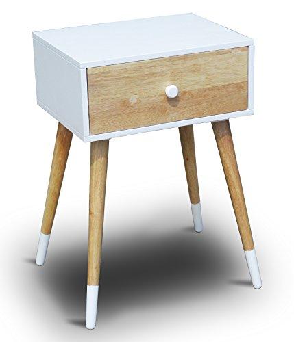Telefontisch-mit-einer-Schublade-Holz-Wei-40-x-30-x-60-cm-Nachtschrank-Nachttisch-Konsole-Konsolentisch-Beistelltisch-Schrnckchen-Kommode-Anrichte-Modern-Skandinavisch-Retro-Design-Look-NEU-0