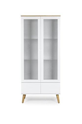 Tenzo 1670-454 Dot Designer Vitrine Holz, weiß / eiche, 43 ...