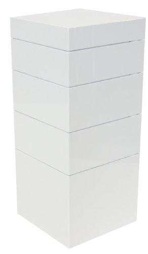 Tenzo-4855-071-Bloc-Designer-Turm-Stauraum-83-x-36-x-36-cm-wei-hochglanz-0